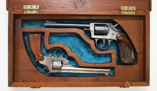 Lot of 2 Cased Iver Johnson double action revolvers