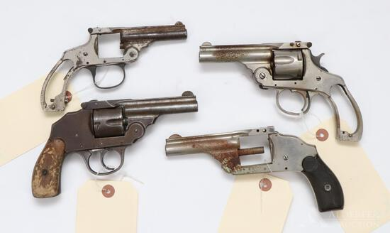 4 Vintage Revolvers for Parts or Repair