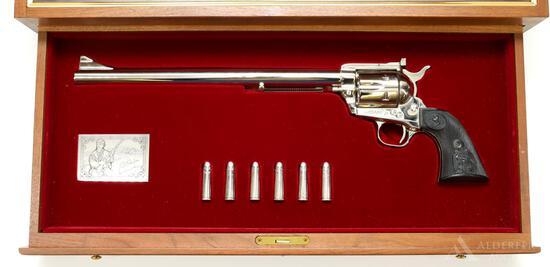 Colt SAA New Frontier Ned Buntline Commemorative Single Action Revolver Display Case Set.