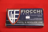 Box of 50, Fiocchi 9 mm Luger 115 gr FMJ