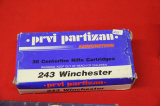 1 Box of 20, Prvi Partizan, 243 Win SP 90 gr