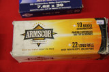1 Box of 500, Armscor, 22 lr 36 gr HP