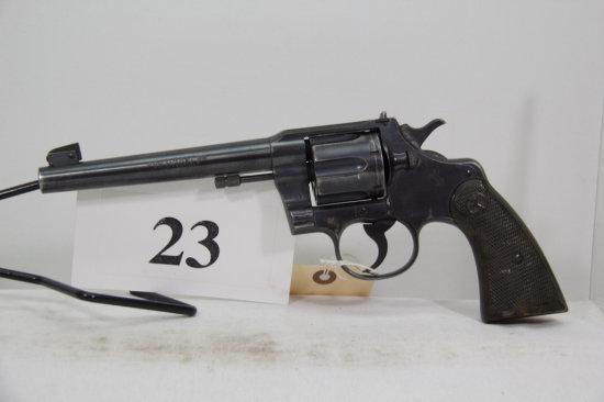 Colt, Model Officers, Revolver, 38 spl cal,