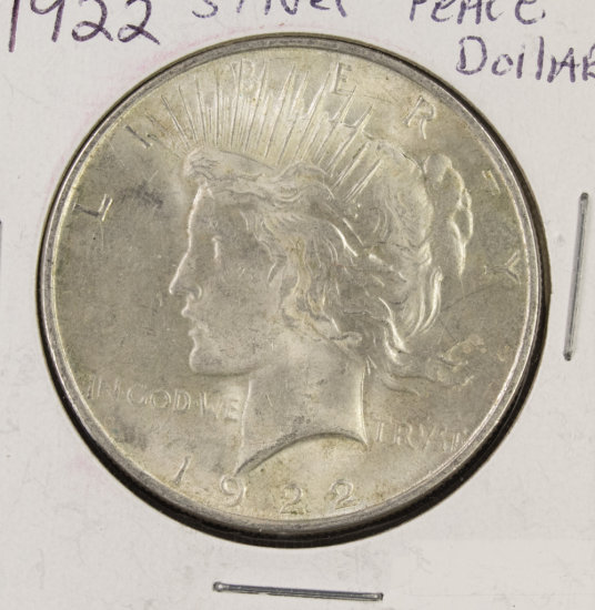 (3) 1922 PDS PEACE DOLLARS