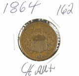 1864- TWO CENT PIECE