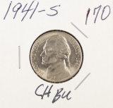 1941 - S JEFFERSON NICKEL