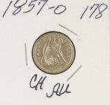 1857-O SEATED LIBERTY DIME