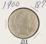 1900 - BARBER HALF DOLLAR