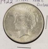 (3) 1922 PDS PEACE DOLLARS