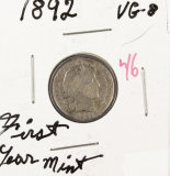 1892 BARBER DIME VG-8