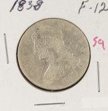 1838 BUST HALF DOLLAR