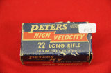 1 Box of 50, Peters 22 LR