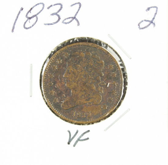 1832 - CLASSIC HEAD HALF CENT - VF