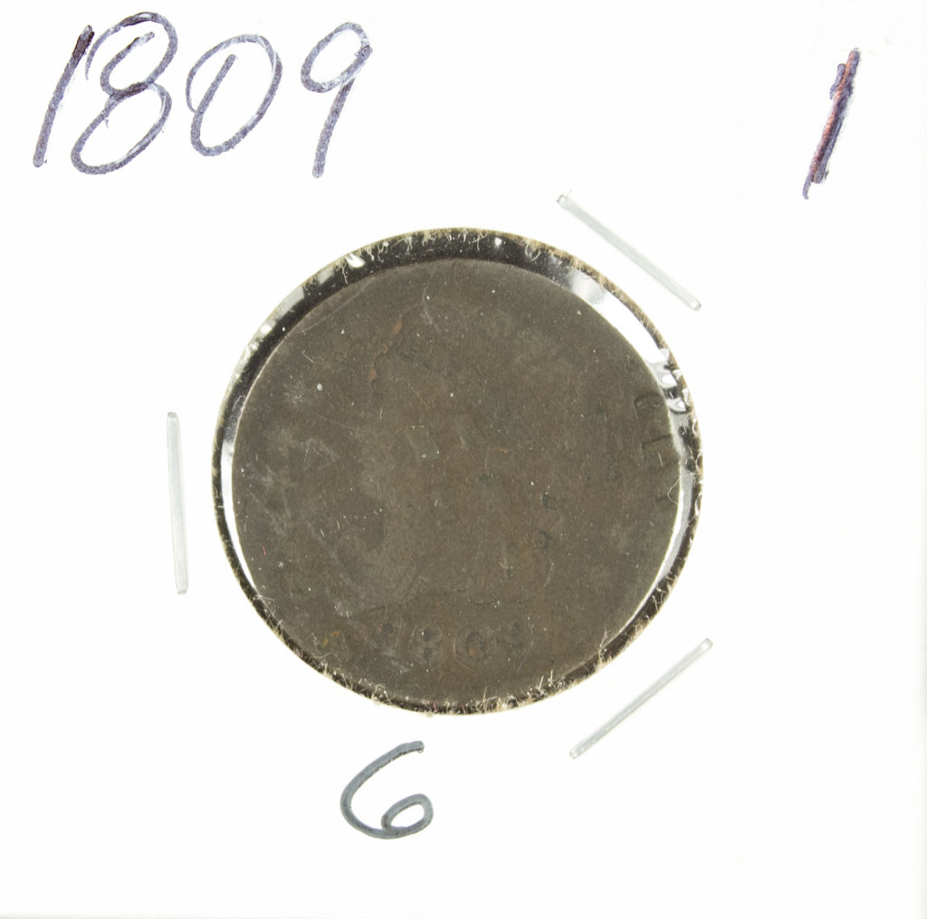 1809 CLASSIC HEAD HALF CENT - G