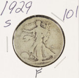 1929-S WALKING LIBERTY HALF DOLLAR - F
