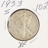 1933-S WALKING LIBERTY HALF DOLLAR - XF