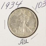 1934 - WALKING LIBERTY HALF DOLLAR - AU