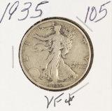 1935 WALKING LIBERTY HALF DOLLAR - VF+