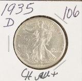 1935-D WALKING LIBERTY HALF DOLLAR - AU