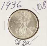 1936 WALKING LIBERTY HALF DOLLAR - BU