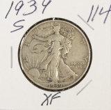1939-S WALKING LIBERTY HALF DOLLAR - XF