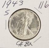 1943-S WALKING LIBERTY HALF DOLLAR - BU