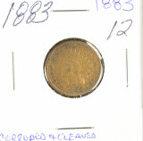 1883 - INDIAN HEAD CENT - VF