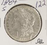 1884-S MORGAN DOLLAR -AU