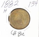 1882-H CANADIAN LARGE CENT - UNC