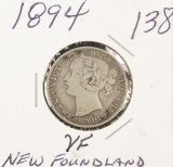 1894 - NEW FOUNDLAND 20 CENTS - VF