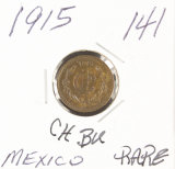 1915 - MEXICO 1 CENTALUO RD/BRN - UNC