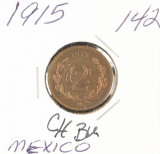 1915 - MEXICO 2 CENTALUO RD/BRN - UNC