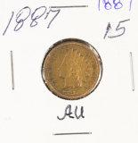 1887 - INDIAN HEAD CENT - AU
