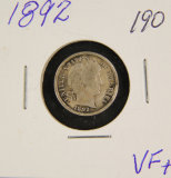1892 - BARBER DIME - VF+