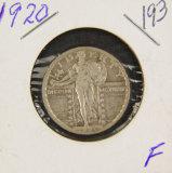 1920 - STANDING LIBERTY QUARTER - FINE