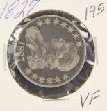 1827- CAPPED BUST HALF DOLLAR - VF