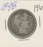 1898 - BARBER HALF DOLLAR