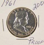1961 - PROOF FRANKLIN HALF DOLLAR