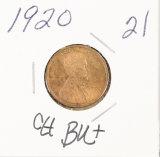 1920 - LINCOLN CENT - CH UNC