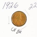 1926 - LINCOLN CENT - CH UNC