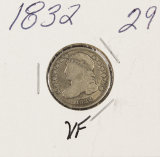 1832 - CAPPED BUST DIME - VF
