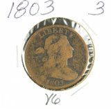 1803 - DRAPED BUST LARGE CENT - VG