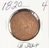 1820 - MATRON HEAD LARGE CENT - AU