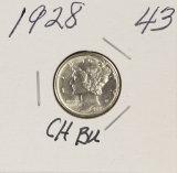1928 - MERCURY DIME - BU