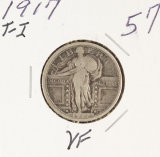 1917-TY I - STANDING LIBERTY QUARTER - VF