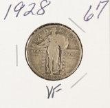1928 - STANDING LIBERTY QUARTER - VF