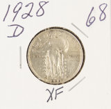 1928-D STANDING LIBERTY QUARTER - XF