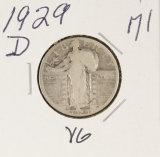 1929-D STANDING LIBERTY QUARTER - VG