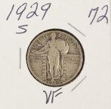 1929-S STANDING LIBERTY QUARTER - VF
