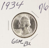 1934 WASHINGTON QUARTER - F